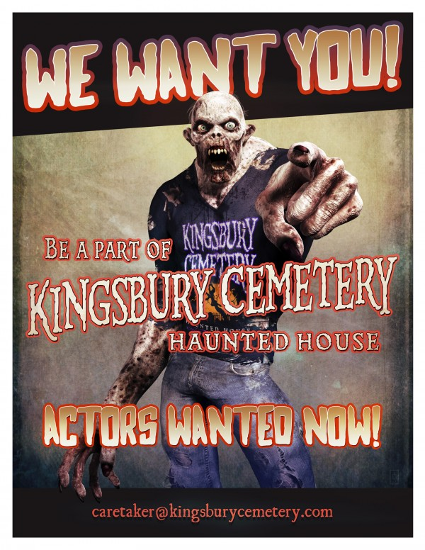 Kingsbury Cemetery recruitment poster