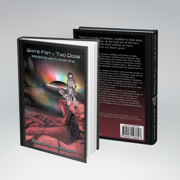 Commisioned book cover and wraparound design